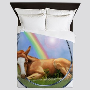 pot of gold--horse shoe-T Queen Duvet