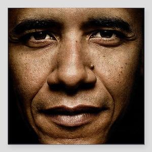"""obama puzzle Square Car Magnet 3"""" x 3"""""""