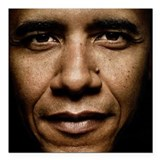 Barak obama Square Car Magnets