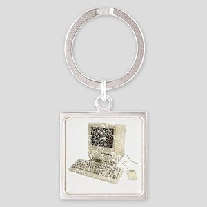 vintage-mac Square Keychain