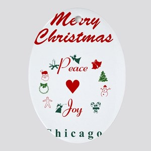 Chicago_5x7_Christmas Stocking_Peace Oval Ornament