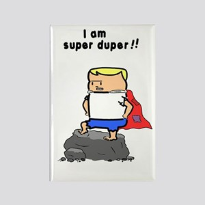 Bib Super Duper Tom color Rectangle Magnet