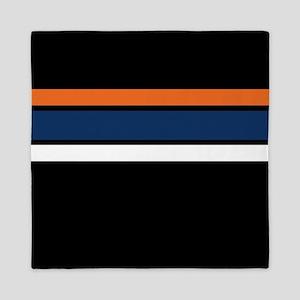 Team Colors 2 ...orange, blue, white a Queen Duvet