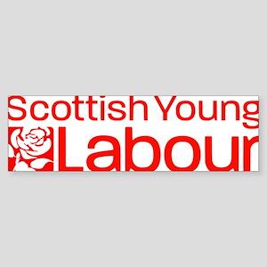 Scot young labour logo (w promo b Sticker (Bumper)