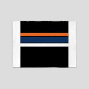 Team Colors 2 ...orange, blue, whit 5'x7'Area Rug