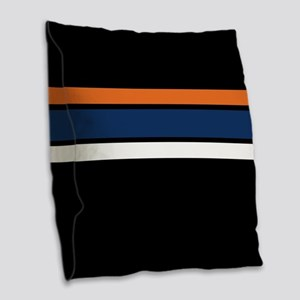 Team Colors 2 ...orange, blue, Burlap Throw Pillow