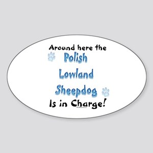 Lowland Charge Oval Sticker