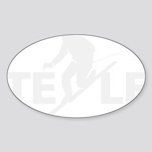 TE LE wht Sticker (Oval)