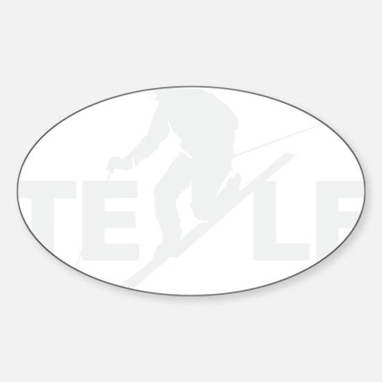 TE LE wht Sticker (Oval)