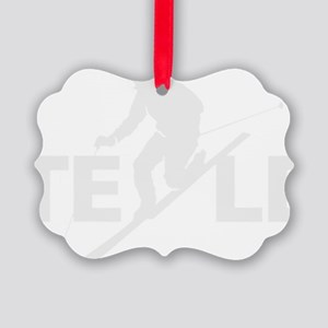 TE LE wht Picture Ornament