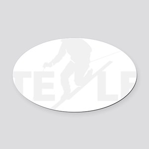 TE LE wht Oval Car Magnet