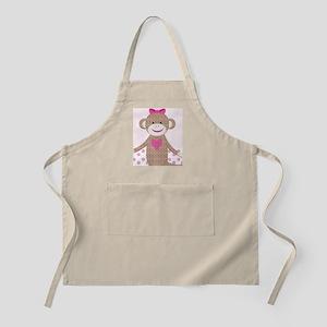Girl Pink Sock Monkey Kindle Nook Sleeve Apron