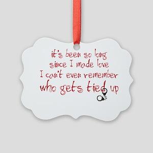 tiedup copy Picture Ornament