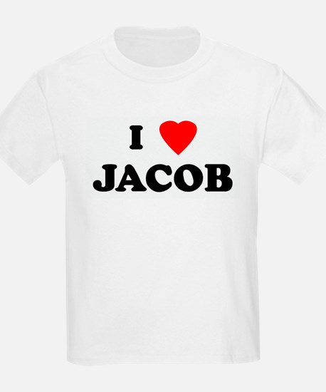 I Love JACOB Kids T-Shirt