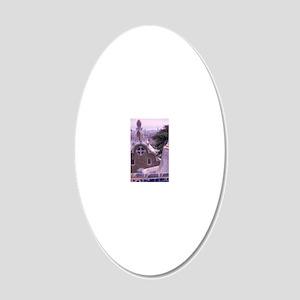 EU, Spain, Barcelona, Sights 20x12 Oval Wall Decal