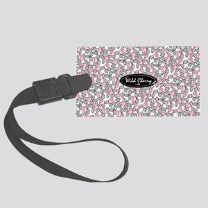 wild cherry floral-big bag Large Luggage Tag