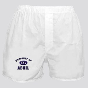 Property of abril Boxer Shorts