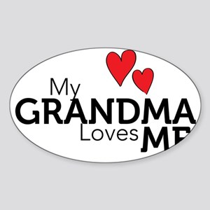 MyGrandmaLovesMe Sticker (Oval)