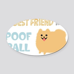 POMpoofball Oval Car Magnet