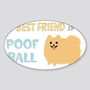 POMpoofball Sticker (Oval)