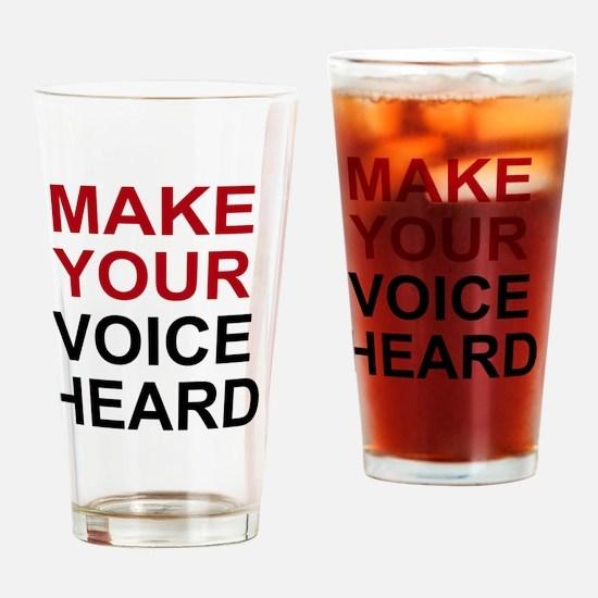 voiceheardbtn Drinking Glass