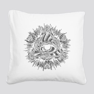 All Seeing Eye Square Canvas Pillow