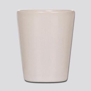 SuitUp_white Shot Glass