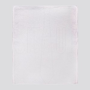 SuitUp_white Throw Blanket