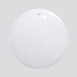 SuitUp_white Round Ornament