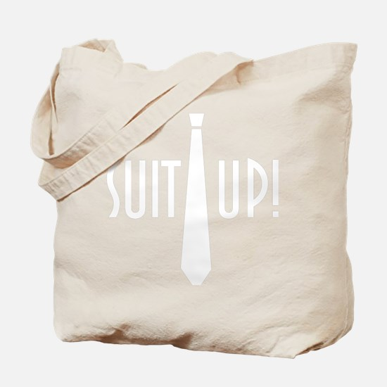 SuitUp_white Tote Bag