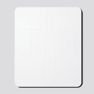 SuitUp_white Mousepad