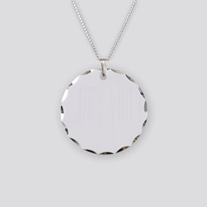 SuitUp_white Necklace Circle Charm