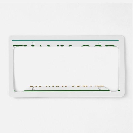 thank God License Plate Holder