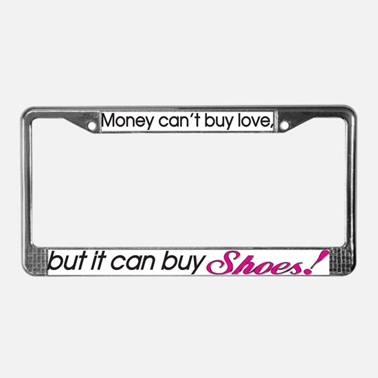 Money & Shoes License Plate Frame