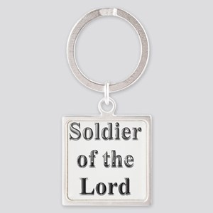 Soldier of the Lord trans Square Keychain