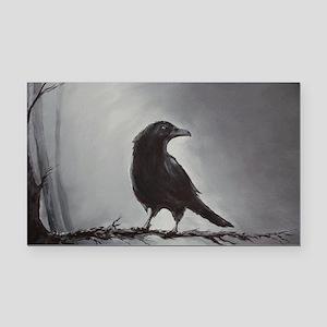 raven Rectangle Car Magnet