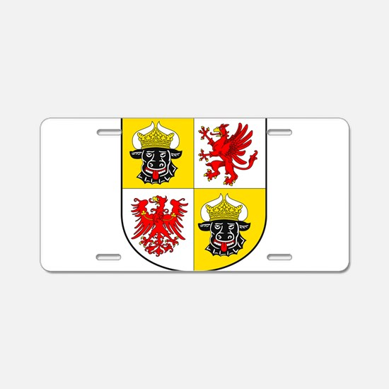 Coat of arms of Mecklenburg Aluminum License Plate