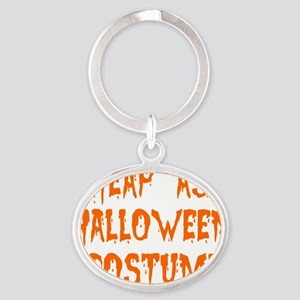 Cheap-Ass-Halloween-Costume Oval Keychain