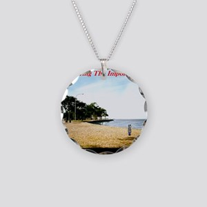 Pondering The Imponderable Necklace Circle Charm