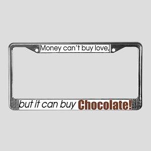 Money-Chocolate License Plate Frame