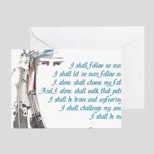 I shall be me Greeting Card
