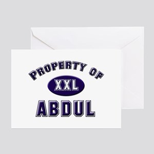Property of abdul Greeting Cards (Pk of 10)