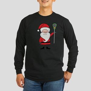 Lacrosse Santa Personalized Long Sleeve Dark T-Shi