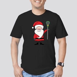 Lacrosse Santa Personalized Men's Fitted T-Shirt (