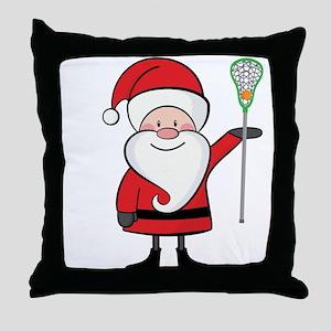 Lacrosse Santa Personalized Throw Pillow