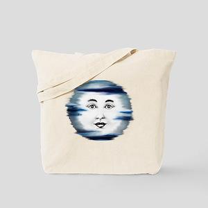 Blue Moon Face4 Tote Bag