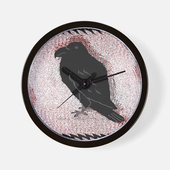 Raven Edge Wall Clock
