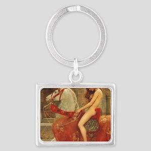 Lady Godiva Landscape Keychain