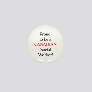 Proud To Be Canadian SW Mini Button