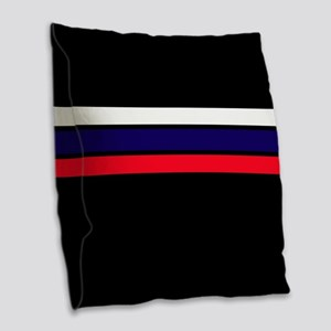 Team Colors 2...red,white and Burlap Throw Pillow